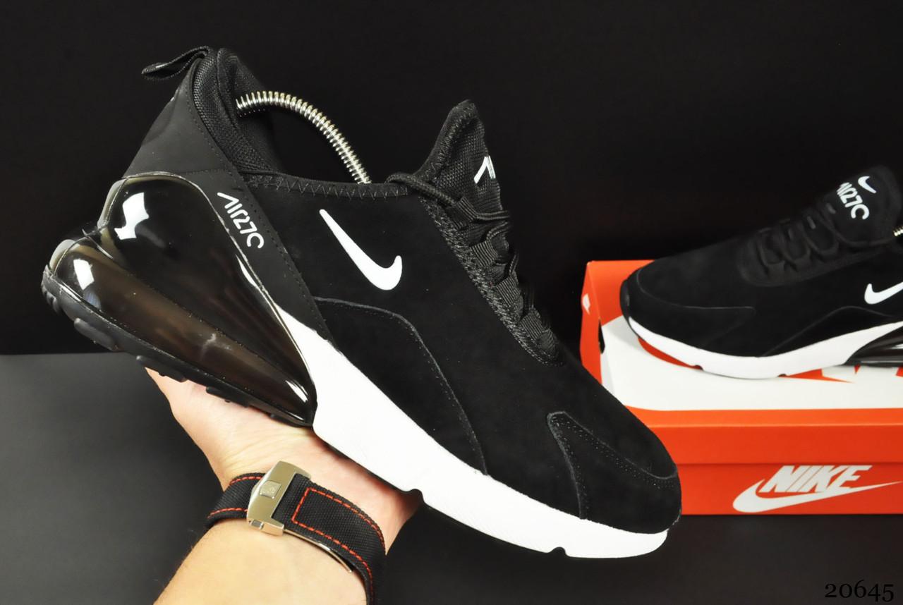 Кроссовки Nike Air Max 270 арт 20645 (мужские, черные, найк)