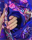 Літній вечір 10058-14, павлопосадский хустку (крепдешин) шовковий з подрубкой, фото 3