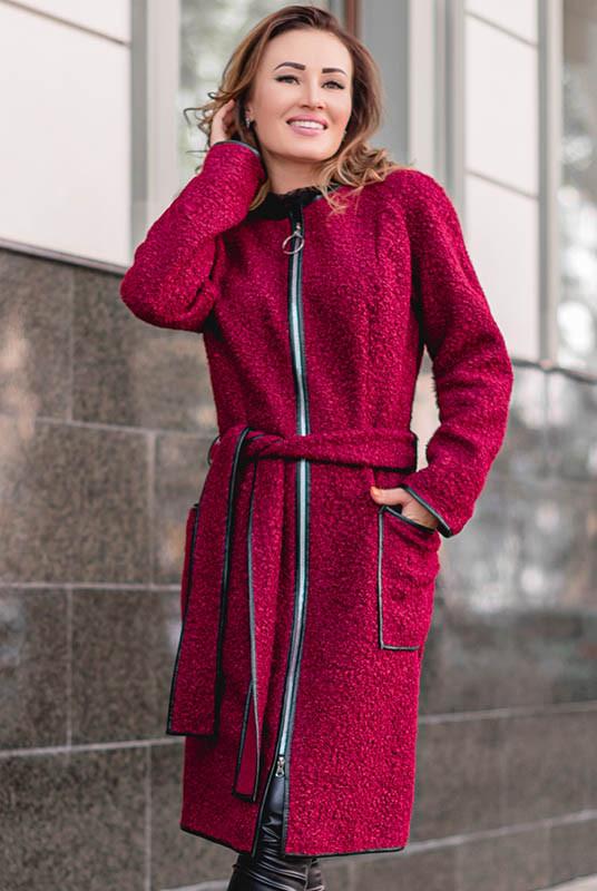 Стильне пальто на блискавці Рандеву букле