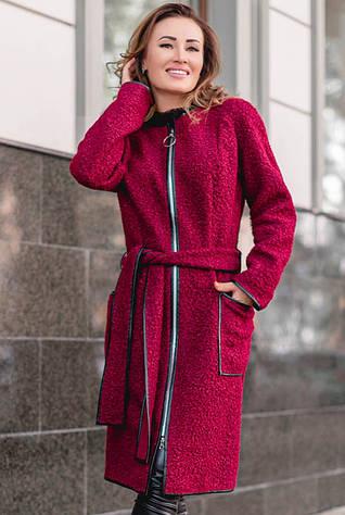 Стильное пальто  на молнии Рандеву букле
