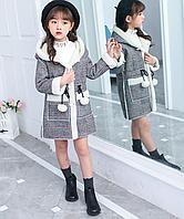 Модне, тепле пальто для дівчаток, весна/осінь - Модные теплые куртки для девочек; зимняя куртка-парка с капюшо