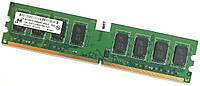 Оперативная память Micron DDR2 2Gb 800MHz PC2 6400U 2R8 CL6 (MT16HTF25664AY-800J1) Б/У, фото 1