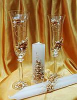 """Комплект """"Свадебные кольца"""" в золотом цвете."""