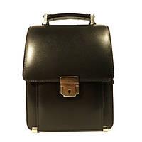 Борсетка кожаная мужская вертикальная Desisan 203 1 черная, сумка через плечо