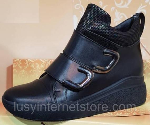 Ботинки черные зимние кожаные женские от производителя модель КЛ9314-2