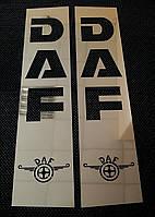 Комплект накладок на кабину DAF, XF 95, XF 105 из нержавеющей стали, комплект 4 шт