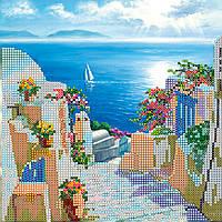 Схема для вышивки бисером на натуральном художественном холсте Дорога к морю