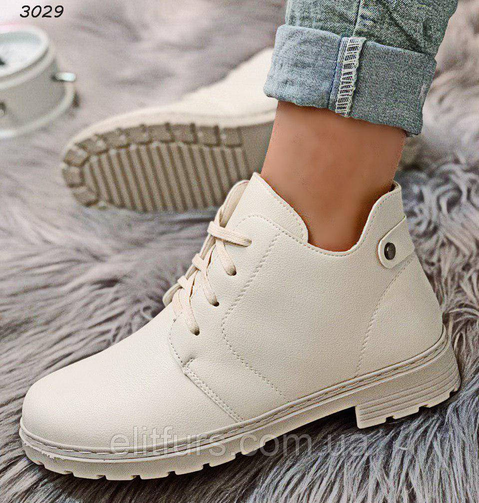Ботинки демисезонные стильные, стильная эко-кожа