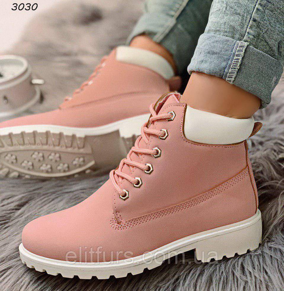 Ботинки демисезонные стильные, эко-нубук