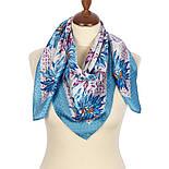 Акварелі 750-13, павлопосадский платок шовковий (жаккард) з подрубкой. Стандартний сорт, фото 2