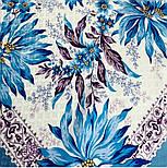 Акварелі 750-13, павлопосадский платок шовковий (жаккард) з подрубкой. Стандартний сорт, фото 3