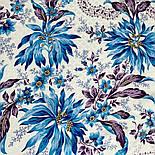 Акварелі 750-13, павлопосадский платок шовковий (жаккард) з подрубкой. Стандартний сорт, фото 6