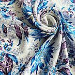 Акварелі 750-13, павлопосадский платок шовковий (жаккард) з подрубкой. Стандартний сорт, фото 5