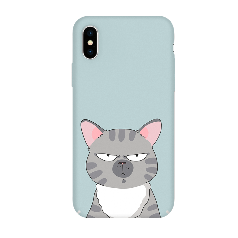Pump Tender Touch Case чехол для iPhone X/XS Serious Cat