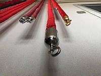 Канат плетеный красный, черный, синий 2 м. Чаша 38 мм.
