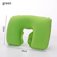 Подушка надувная LSM для путешествий 34х23х9 зеленая (45-24)