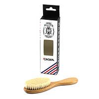 Щетка для бороды (деревянная ручка/натуральный ворс)