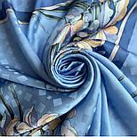 Дуновение 884-13, павлопосадский платок шелковый (жаккардовый) с подрубкой, фото 6