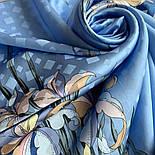 Дуновение 884-13, павлопосадский платок шелковый (жаккардовый) с подрубкой, фото 5