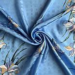 Дуновение 884-13, павлопосадский платок шелковый (жаккардовый) с подрубкой, фото 4