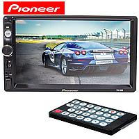 ☚Автомагнитола Pioneer 7010B двухдиновая экран 7 дюймов сенсор прием звонков пульт управления