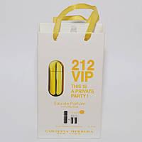 Carolina Herrera 212 VIP мини парфюмерия в подарочной упаковке 3х15ml DIZ