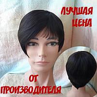 Парик из натуральных волос ассметричный короткий KRIS-4