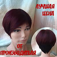 Парик из натуральных волос ассметричный короткий KRIS-1В39