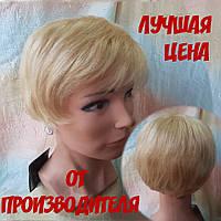 Парик моно из натуральных волос короткий пшеничный блонд LIDA- 24/613