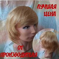 Парик из натуральных волос каскад пышный пшеничный блонд NELLI- 24/613