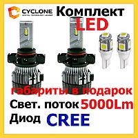 Светодиодные лед лампы на авто Cyclone LED 9006,H1,Н3,Н7,H11, H16 5000K 5000Lm CR type 19