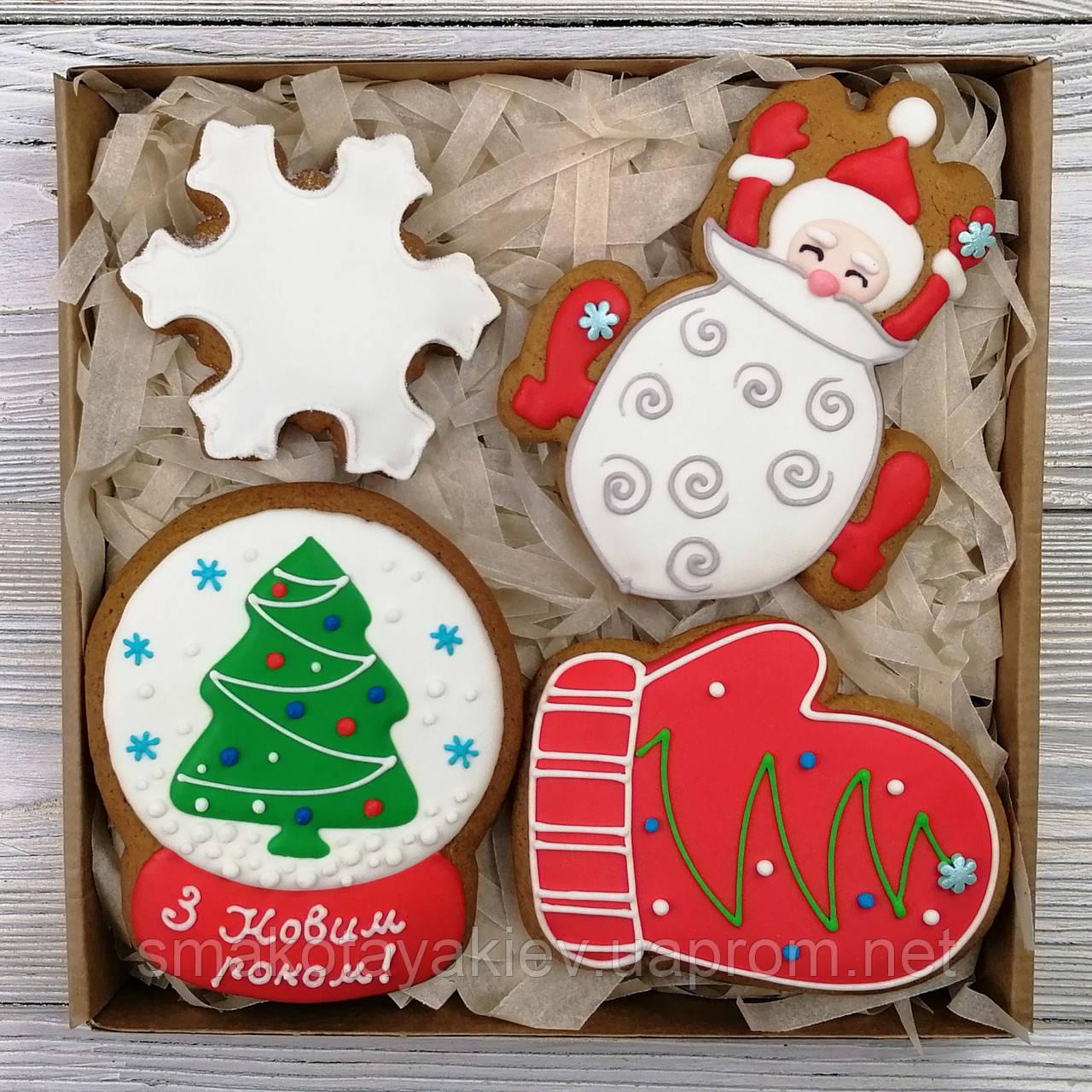 "Корпоративный набор пряников - ""Подарок Деда Мороза"""