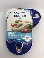 Філе оселедця в томатному соусі Nautica Filety Sledziowe 170г