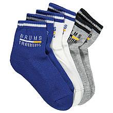 Детские носочки для мальчика BRUMS Италия 143BFLJ001 Белый, синй, серый