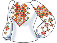 Заготовка женской вышиванки бисером на домотканом полотне СВЖП-30