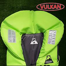 Спасательный жилет с воротником Vulkan Neon green 70-90 кг, фото 3