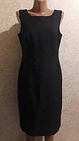 Классический сарафан из рябой костюмной ткани на подкладке