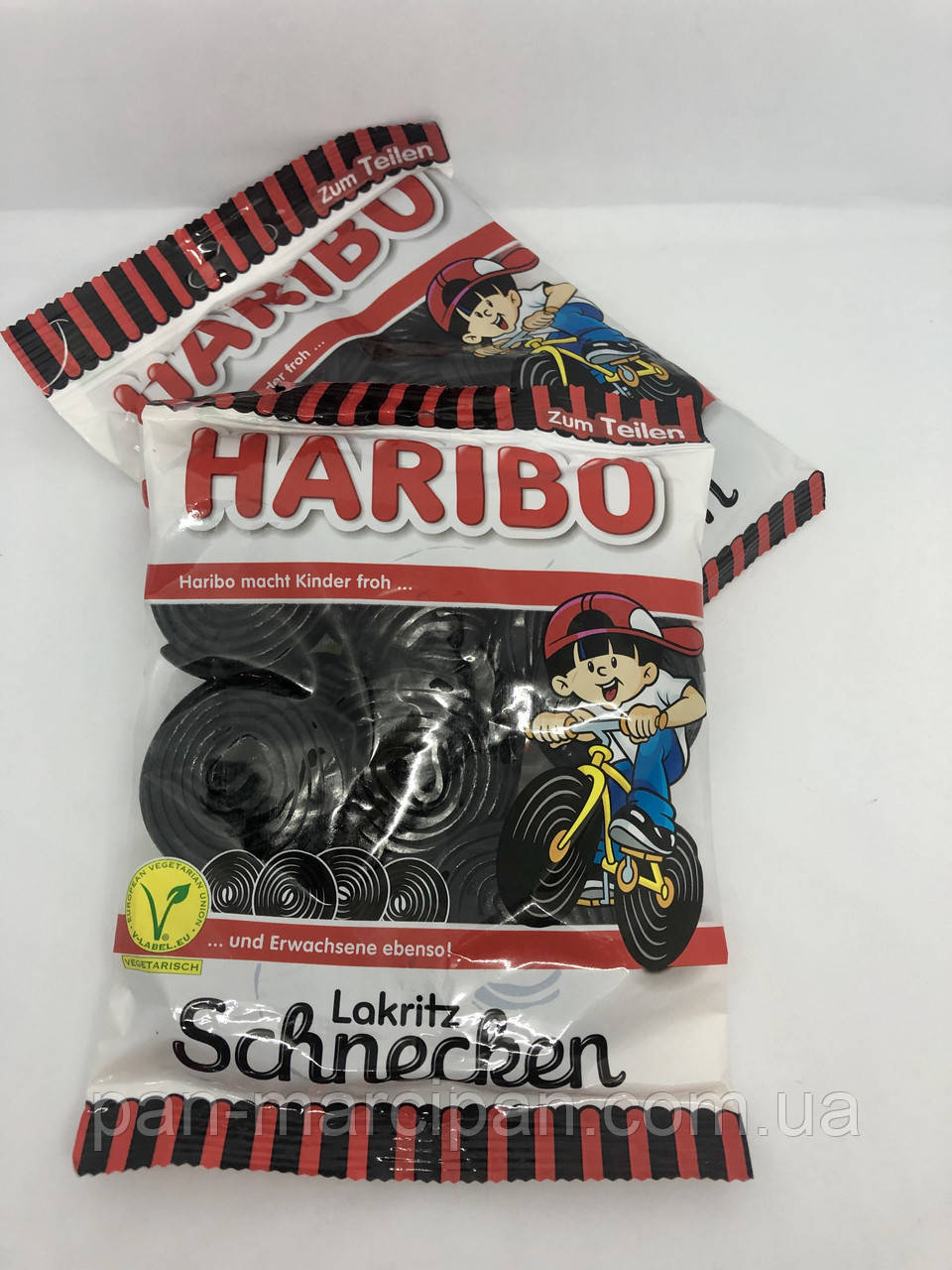 Желейні цукерки Haribo Lakritz Schnecken 200г