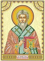 Схема для вышивки иконы бисером на натуральном художественном холсте Святой Тарасий (Тарас)