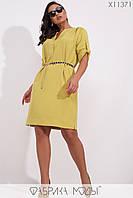 Платье свободного кроя Разные цвета Большие размеры