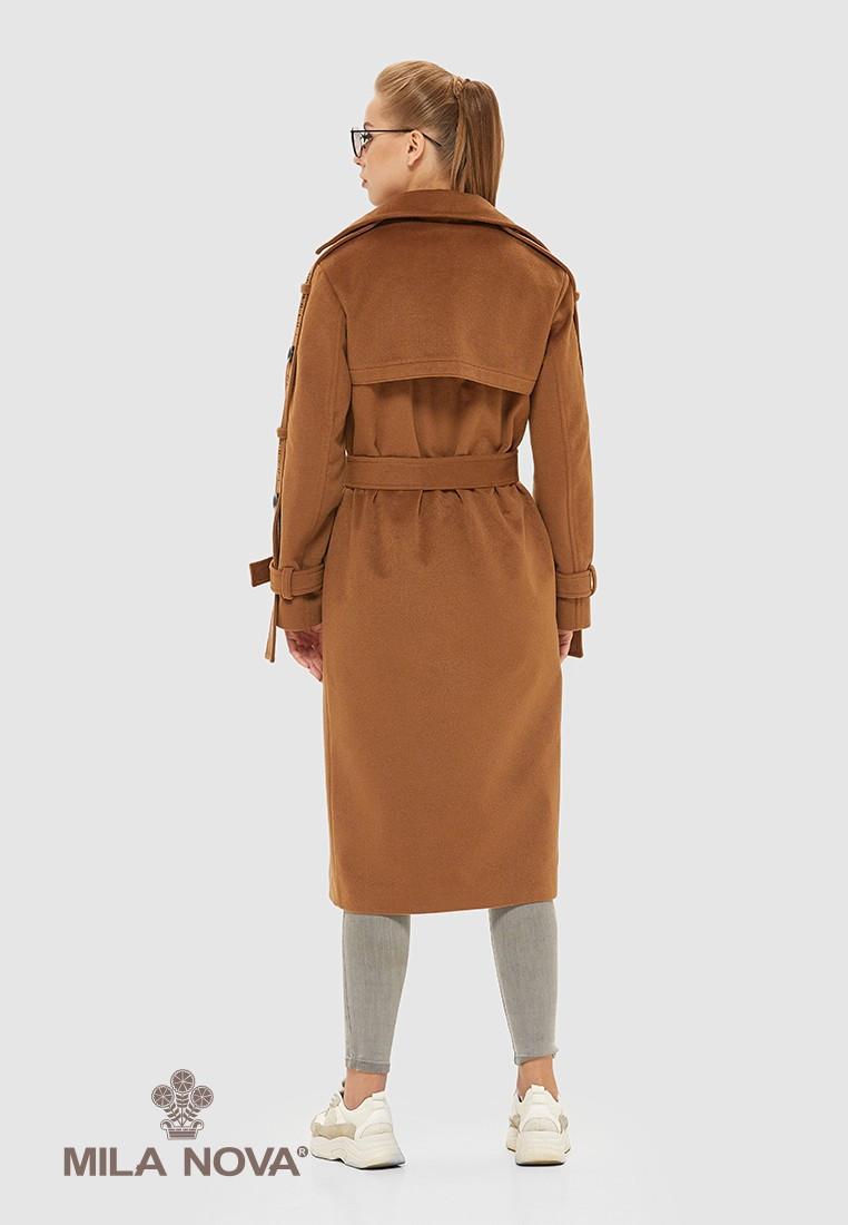 Демисезонное женское пальто рыжий