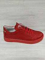 Кеды кожаные красные женские EMILI, фото 1