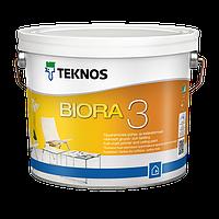 Фарба для стель акрилова, біла TEKNOS BIORA 3, 9л