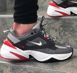 Мужские кроссовки Nike M2K Tekno Black/White/Red 40-45рр. Живое фото. Топ реплика ААА+
