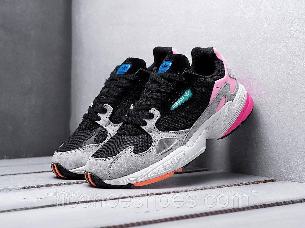Подростковые, детские кроссовки Adidas Falcon W - CORE BLACK / CORE BLACK / LIGHT GRANIT BB9173