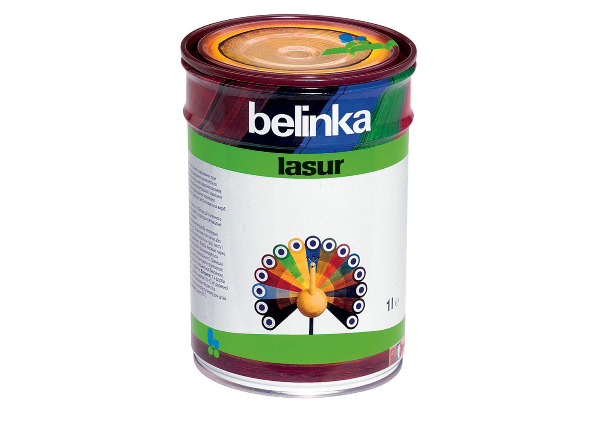 Тонкослойная лазурь для дерева BELINKA LASUR (платиново-серый) 1 л