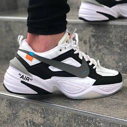 Мужские кроссовки Nike M2K Tekno Off White Black/White 42-45рр. Живое фото. Топ реплика ААА+