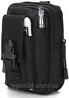 Тактическая сумка поясная EDC Черный