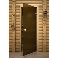 Стеклянная дверь для бани и сауны 70х190
