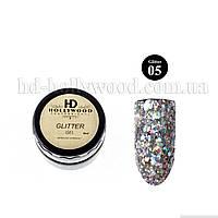 Гель лак Glitter Gel 05 HD Hollywood 8 ml